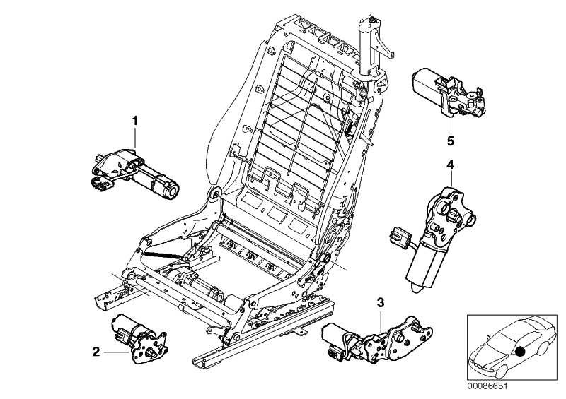 Motor Sitzlängsverstellung CRH 1-1236-01   3er  (67667035989)
