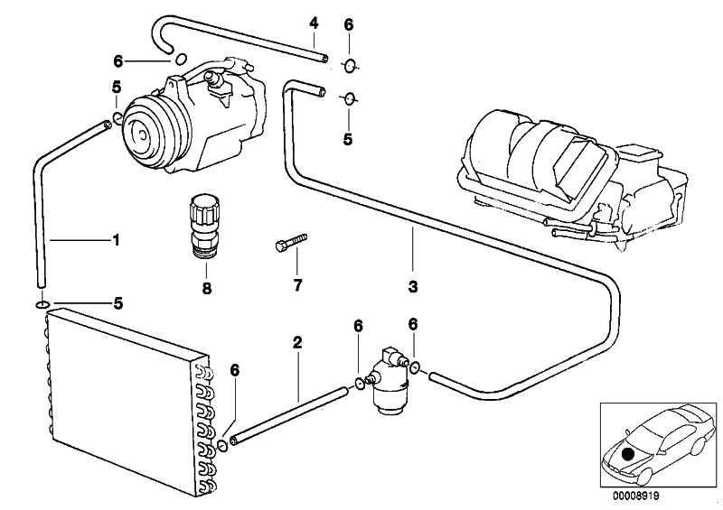 Druckleitung Kondensator-Trockner  5er  (64538379719)