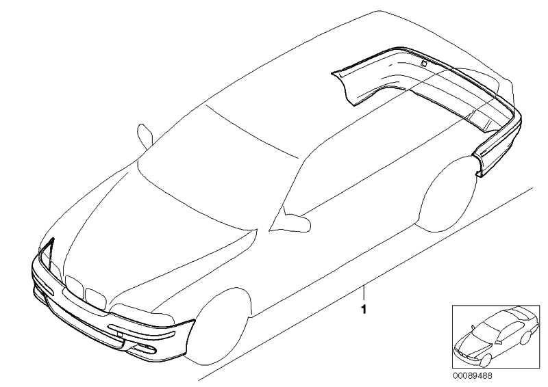Nachrüstsatz M Aerodynamikpaket (Basis) PDC             5er  (51710137899)