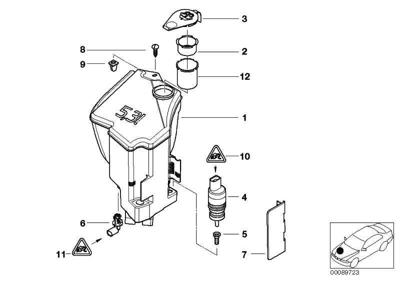 Behälter Scheibenwaschanlage 5L              3er Z4  (61667007970)