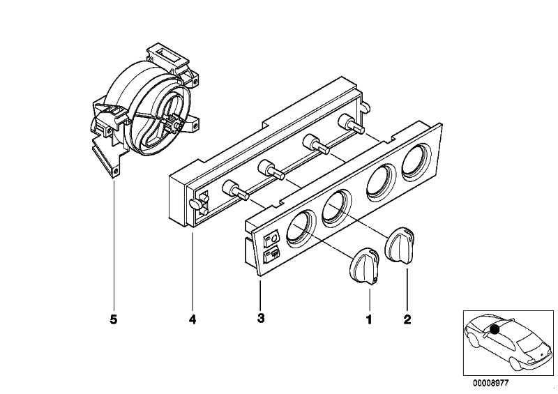 Leiterplatte Bedienteil Heizung  5er  (64118371365)