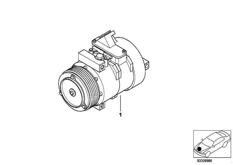 Klimakompressor  3er 5er 7er  (64526910458)