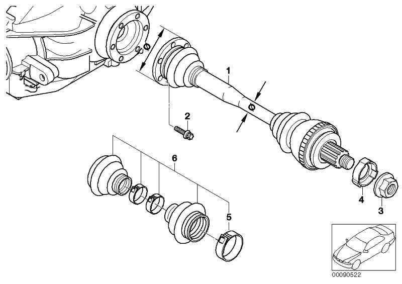 Austausch Abtriebswelle D=110MM/38MM    Z3  (33217504520)
