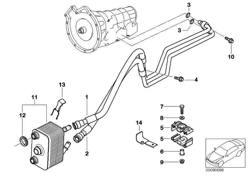Ölkühlerleitung Rücklauf A5S 360R        X5  (17227509301)
