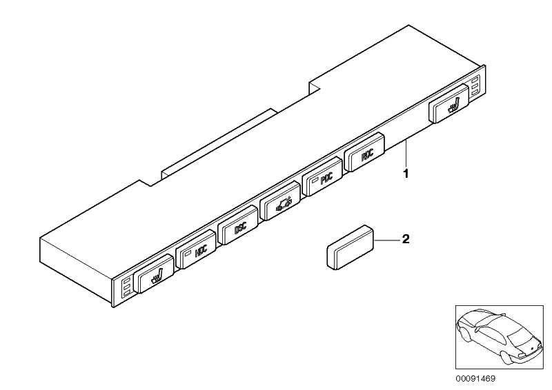 Rep.Satz Schaltzentrum Mittelkonsole DTC  X3  (61319131527)