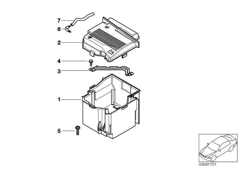 Wärmeschutzkastendeckel Batterie  MINI  (61216924895)