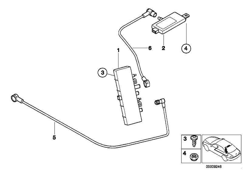 Verstärker Heckscheibenantenne  5er  (65258361507)