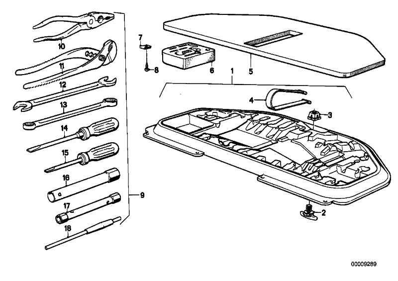 Werkzeugsatz   3er 5er 6er 7er  (71111115329)