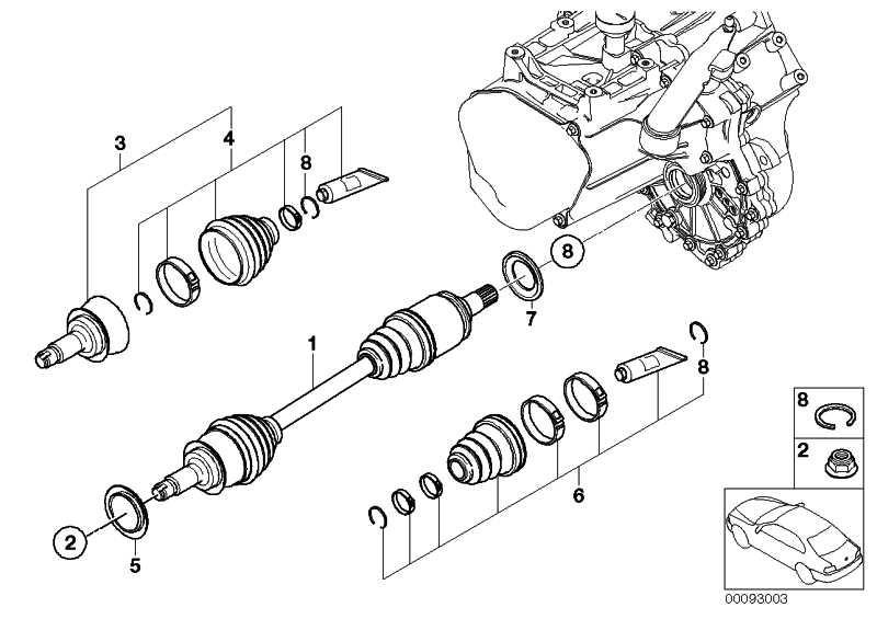 Austausch Abtriebswelle links  MINI  (31607518237)