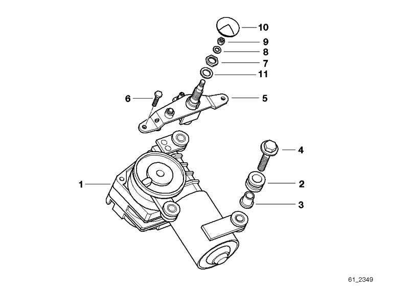 Lagerhülse Wischermotor Heckscheibe  5er  (61628218779)