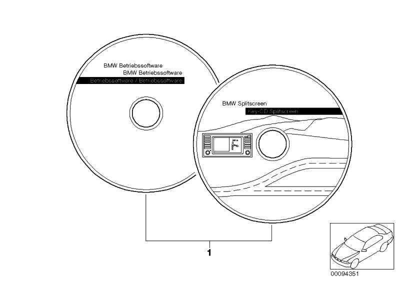 Splitscreen Software  3er 5er 7er X5  (65900140531)