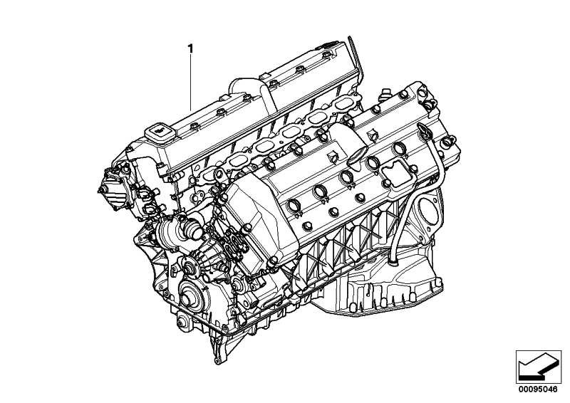 Austausch Triebwerk N73B60A.        7er  (11007524202)