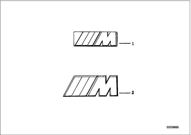 Emblem geklebt M               5er Z3  (51142694404)