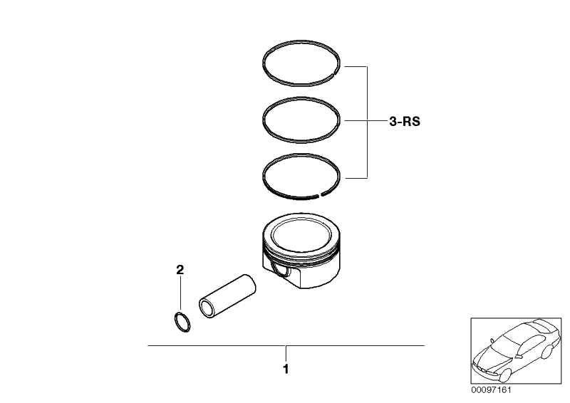 Reparatursatz Kolbenringe (0)             MINI  (11257520133)