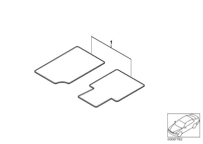 Satz Fussmatten Velours mit Kompassrose ANTHRAZIT Z4  (51477918316)