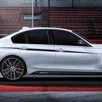 BMW M Performance Akzentstreifen schwarz/silber 3er F30 F31