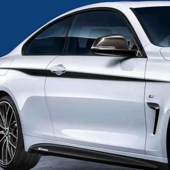 BMW M Performance Akzentstreifen schwarz/silber 4er F36