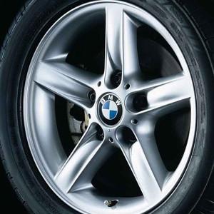 BMW Kompletträder Sternspeiche 43 silber 16 Zoll 3er E46
