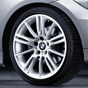 BMW Alufelge M Sternspeiche 193 8,5J x 18 ET 37 Silber Hinterachse BMW 3er E90 E91 E92 E93