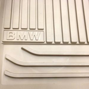 BMW Allwetterfußmatten beige hinten 5er F07 GT LCI
