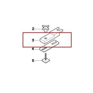 Klemmplatte für Adaption original BMW Dachbox