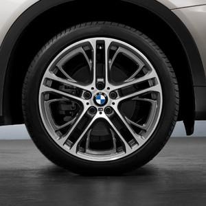 BMW Kompletträder M Performance Doppelspeiche 310 bicolor (ferricgrey / glanzgedreht) 21 Zoll X5M E70 X6 E71 (inkl. M)