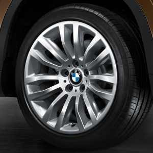 BMW Alufelge Doppelspeiche 321 8J x 18 ET 30 Silber Vorderachse / Hinterachse BMW X1 E84