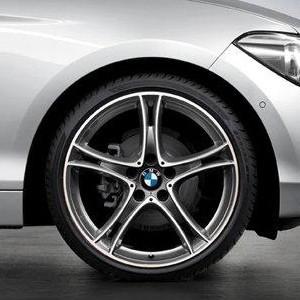 BMW Alufelge Doppelspeiche 361 8,5J x 20 ET 47 Bicolor (Ferricgrey / glanzgedreht) Hinterachse für 3er F30 F31 4er F32 F33 F36