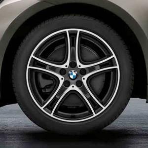BMW Winterkompletträder Doppelspeiche 361 bicolor (orbitgrey/glanzgedreht) 18 Zoll 2er F45 F46 RDCi