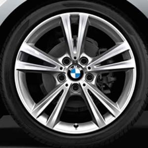 BMW Alufelge Doppelspeiche 385 8J x 18 ET 52 silber Hinterachse BMW 1er F20 F21 2er F22 F23