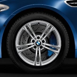 BMW Winterkompletträder M Doppelspeiche 408 silber 19 Zoll M5 F10 M6 F06 F12 F13