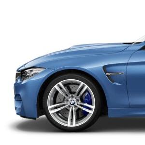 BMW Alufelge M Doppelspeiche 437 9J x 19 ET 29 fer.grey Vorderachse BMW 3er F80 M3 4er F82 M4 F83 M4