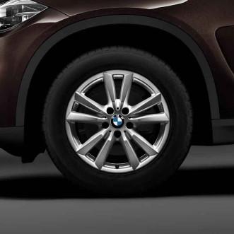 BMW Winterkompletträder Doppelspeiche 446 silber 18 Zoll X5 E70 F15 X6 F16