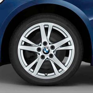 BMW Winterkompletträder Doppelspeiche 473 reflexsilber 16 Zoll 2er F45 F46 RDCi