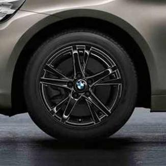 BMW Winterkompletträder Doppelspeiche 473 jet black 16 Zoll 2er F45 F46 RDCi