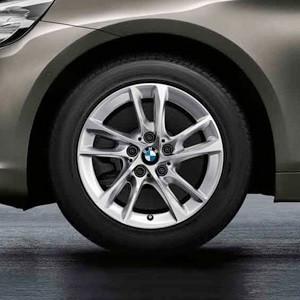 BMW Winterkompletträder Doppelspeiche 474 silber 16 Zoll 2er F45 F46 RDCi