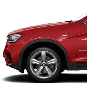 BMW Alufelge Doppelspeiche 606 silber 8,5J x 19 ET 38 Vorderachse X3 F25 X4 F26