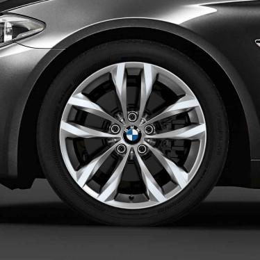 BMW Winterkompletträder Doppelspeiche 609 silber 18 Zoll 5er F10 F11 6er F06 F12 F13 RDC LC