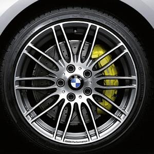 BMW Alufelge Doppelspeiche 269 9,5J x 19 ET 32 (Ferricgrey/glanzgedreht) Hinterachse BMW 5er E60