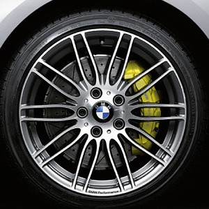 BMW Alufelge Doppelspeiche Performance 269 9J x 19 ET 39 Bicolor (Ferricgrey / glanzgedreht) Hinterachse BMW 3er E90 E91 E92 E93