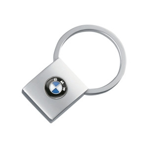 BMW Schlüsselanhänger Square silber matt