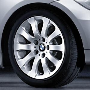 BMW Alufelge Sternspeiche 159 8J x 17 ET 34 Silber Vorderachse / Hinterachse BMW 3er E90 E91 E92 E93