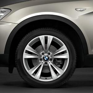 BMW Winterkompletträder Doppelspeiche 309 silber 19 Zoll X3 F25 X4 F26 mit Mischbereifung