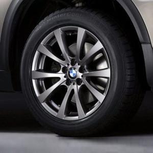 BMW Winterkompletträder M V-Speiche 298 silber 19 Zoll X5M E70 X6M E71