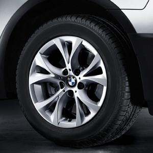 BMW Alufelge V-Speiche 279 8J x 17 ET 46 Silber Vorderachse / Hinterachse BMW X3 E83