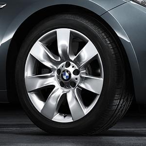 BMW Alufelge Sternspeiche 251 8,5J x 19 ET 25 Silber Vorderachse BMW 7er F01 F02 F04 5er F07