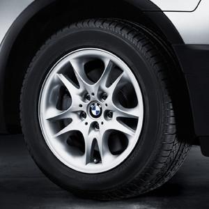 BMW Alufelge Doppelspeiche 111 8J x 17 ET 46 Silber Vorderachse / Hinterachse BMW X3 E83