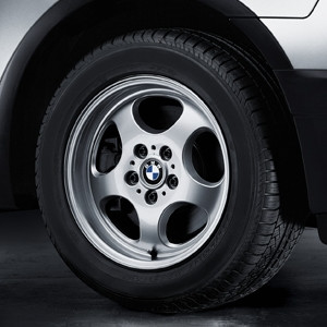 BMW Alufelge Ellipsoid-Styling 109 8J x 17 ET 46 Silber Vorderachse / Hinterachse BMW X3 E83