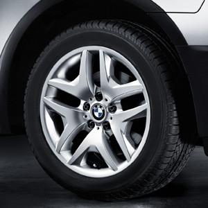 BMW Alufelge M Doppelspeiche 192 9J x 18 ET 51 Silber Hinterachse BMW X3 E83