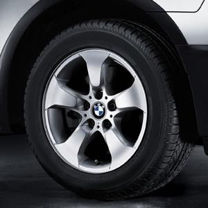 BMW Alufelge Sternspeiche 204 8J x 17 ET 46 Silber Vorderachse / Hinterachse BMW X3 E83